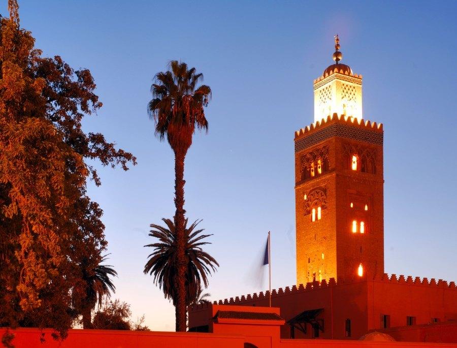 La Koutoubia de nuit à Marrakech