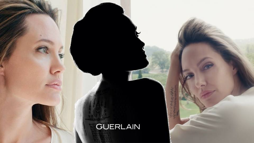 Pub du Parfum Mon Guerlain avec Angelina Jolie :'Notes of a Woman'