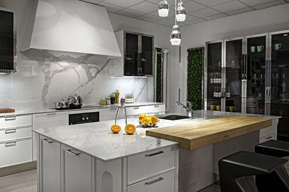 Le marbre dans la cuisine est tendance en 2017