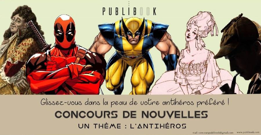 Concours de nouvelles antihéros par Publibook