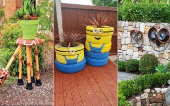 25 idées déco DIY originales pour donner de la fantaisie à votre jardin