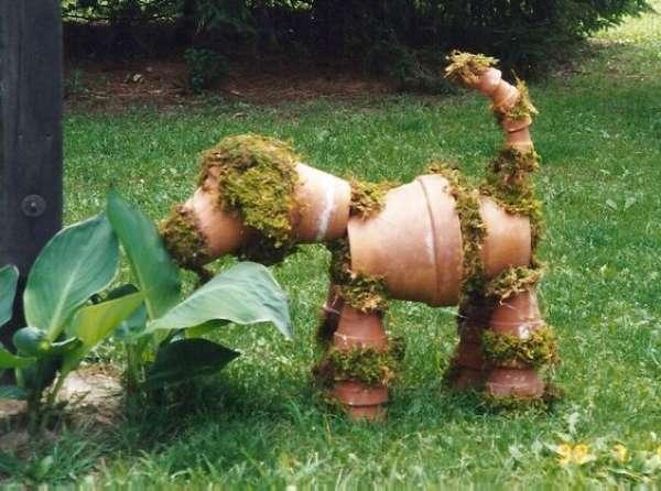 Des pots pour fabriquer un chien