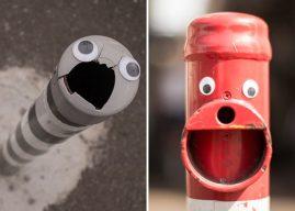 Eyebombing : quand le mobilier urbain prend vie grâce à des yeux en plastique