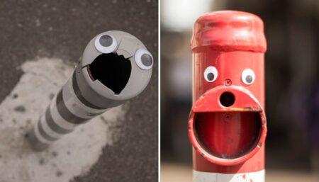 Eyebombing - Googly Eyes : des yeux dans le mobilier urbain