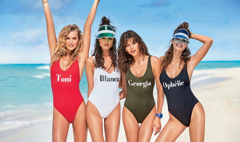 Toni Garrn, Blanca Padilla, Georgia Fowler et Ophélie Guillermand : les 4 mannequins de la pub Calzedonia-maillot de bain été 2017