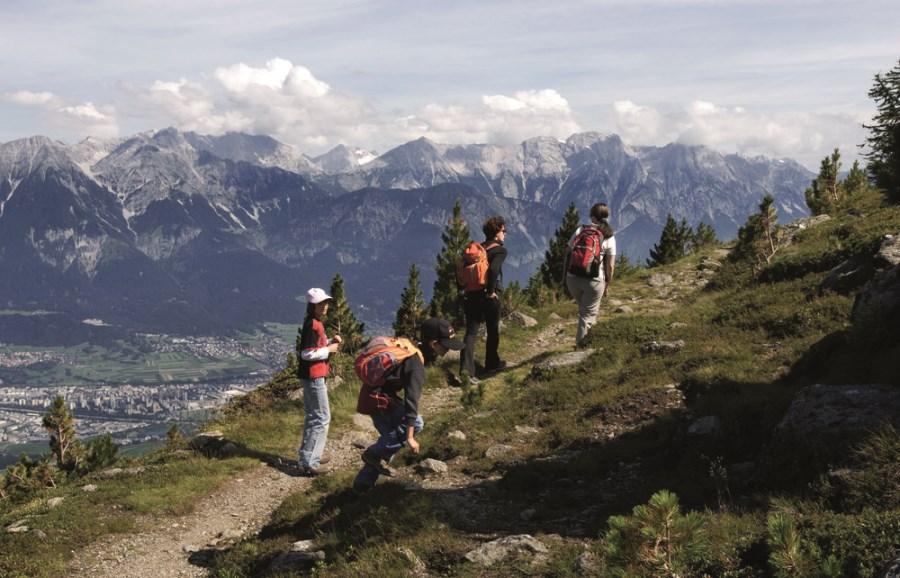 Randonnée dans la montagne autour de Innsbruck
