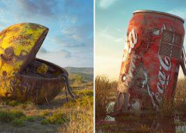 Les vestiges de la pop culture illustrés dans un monde post-apocalyptique