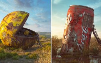 Les vestiges de la pop culture illustrés dans un monde post-apocalyptique
