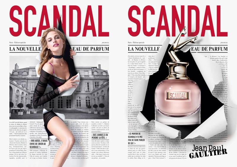 Bien connu Jean Paul Gaultier fait 'Scandal' avec la pub du parfum féminin 2017 VM65