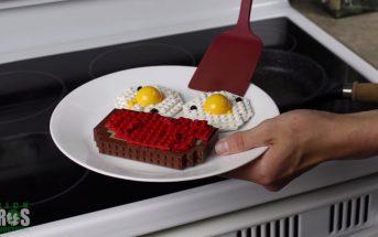 Stop motion : il prépare son petit déj' avec des LEGO