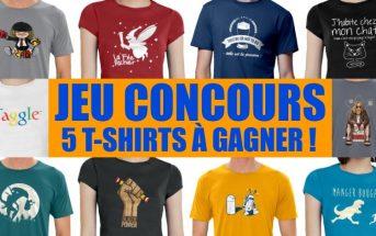 Jeu concours : gagnez 5 T-shirts stylés avec RueDuTeeshirt.com