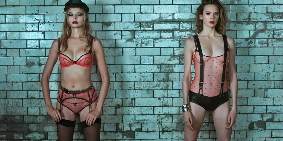 Magdalena Frackowiak et Elise Crombez sexy en lingerie Agent Provocateur