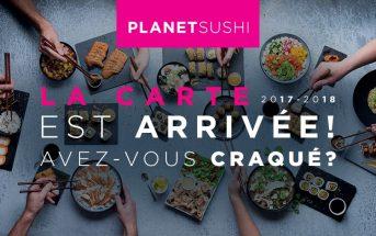 Code promo Planet Sushi : -20% pour découvrir la nouvelle carte 2017-2018 !