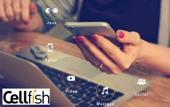 Cellfish : le meilleur des contenus de divertissement sur mobile