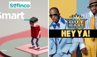 La musique de la pub Sofinco-2017 'smart' est Outcast 'hey ya!'