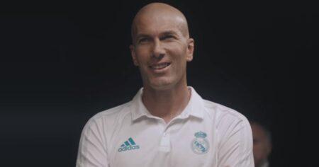 pub adidas here to create avec Zinedine Zidane