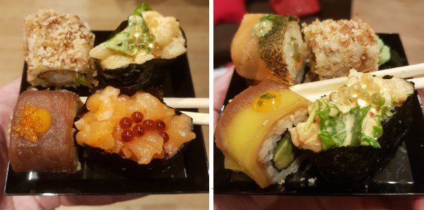 Photos de dégustations prises lors de la soirée Planet Sushi à Paris