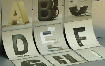 Cette typographie rend hommage aux marques de la pop culture électronique