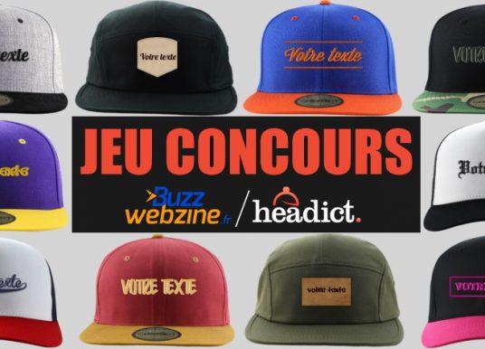 Jeu concours : gagnez 3 casquettes personnalisées avec Headict