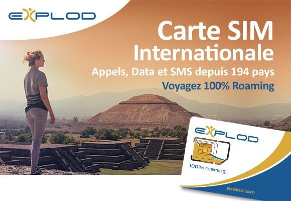 explod : carte SIM internationale roaming