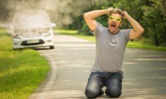 panne de voiture en vacances