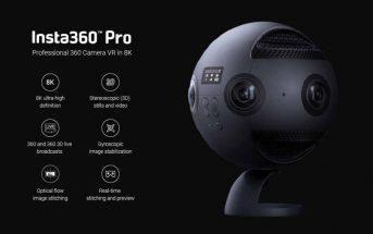 Insta360 Pro : promo sur la caméra vidéo 360° VR en 8K