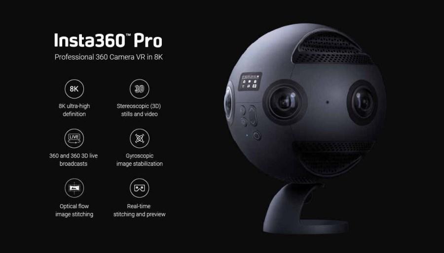 Insta360 Pro 8K caméra vidéo 360° VR