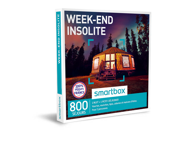 cadeau Noel 2017 : smartbox week-end insolite