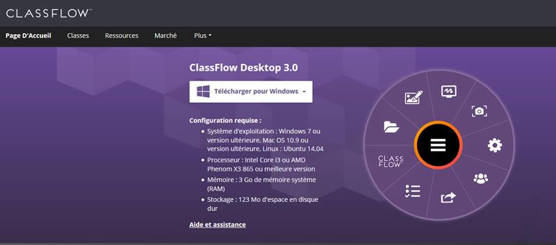 fonctionnalités classflow desktop