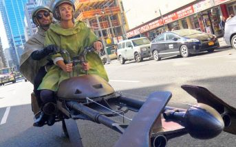 Ils font une course de Speeder Bike Star Wars dans les rues de New-York