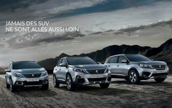 La pub de la nouvelle gamme SUV Peugeot 2017