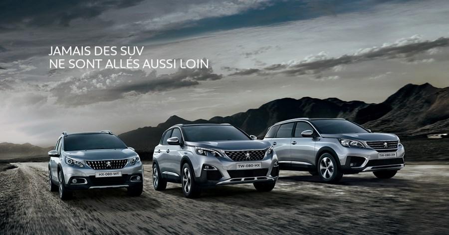 nouvelle gamme SUV Peugeot 2017
