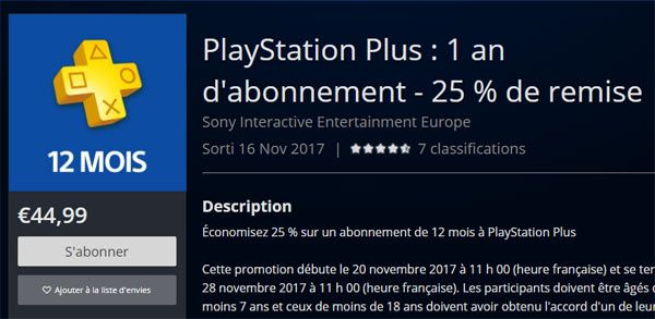 playstation plus cyber monday 2017