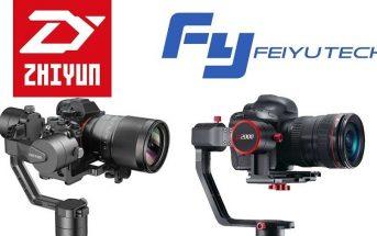 Promo sur les stabilisateurs de caméra FeiyuTech a2000 et Zhiyun Crane