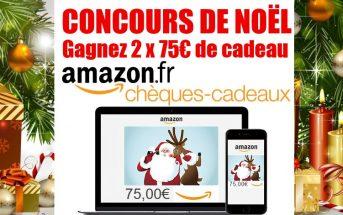 Concours de Noël : 2 x 75€ de eChèque-cadeau Amazon à gagner !