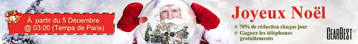 Gearbest promo cadeau de Noël