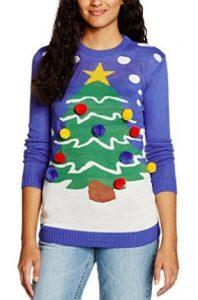 pull moche de Noël pour femme avec un sapin en 3D