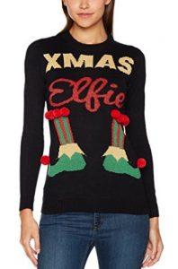 pull moche Noël pour femme : xmas elfie