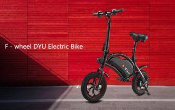 🔥 Promo : le vélo électrique pliable F-wheel DYU D1 à 356€ et D3 à 471€