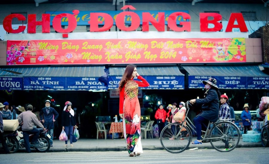 Marché Dong Ba à Hué - Vietnam