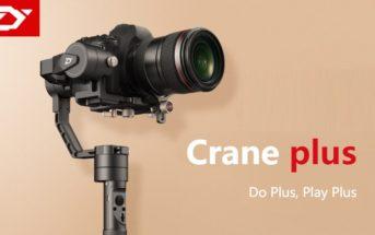 Vente flash : le nouveau Stabilisateur Zhiyun Crane Plus en promo à 489€ !