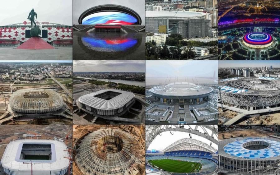 Les stades de la coupe du monde 2018 en Russie