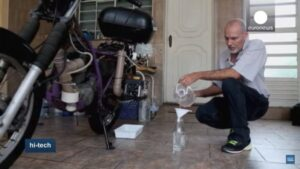 moto h2o hydrogène eau