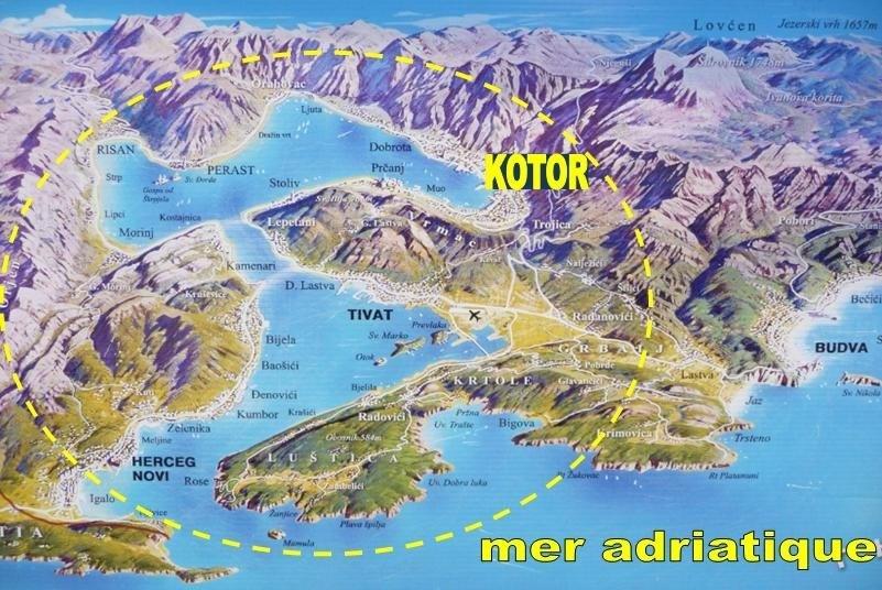 La magnifique baie de Kotor au Monténégro