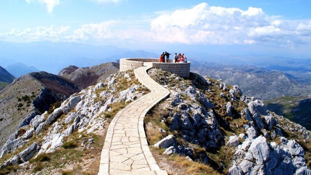Le sommet du mont Lovcen au Monténégro