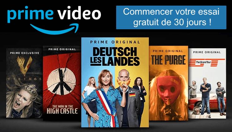 amazon prime vidéo : 30 jours d'abonnement gratuit