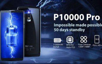 Le smartphone Blackview P10000 Pro en promo à 169€