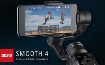 Le stabilisateur pour smartphone le Zhiyun Smooth 4 en promo à 118€