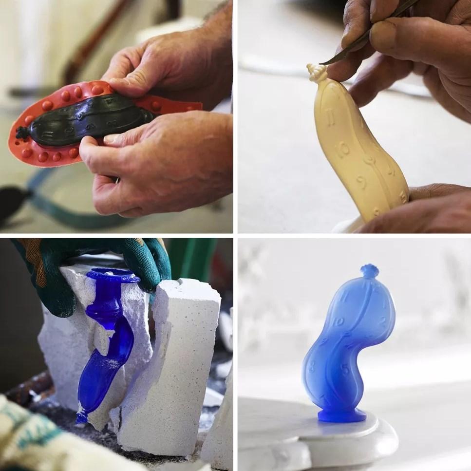 Le procédé de fabrication de la pâte de verre par la cristallerie Daum