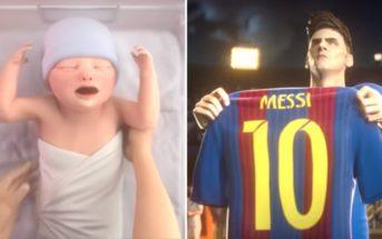 La vie de Lionel Messi retracée dans une pub d'animation